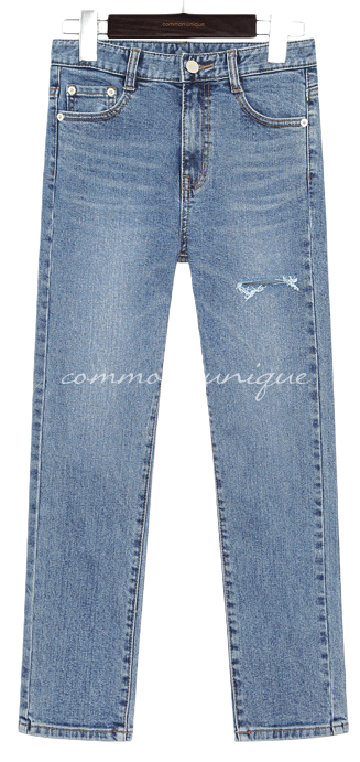 SOUR DAMAGE DENIM PANTS