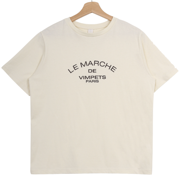 'LE MARCHE' lettering Short-sleeved