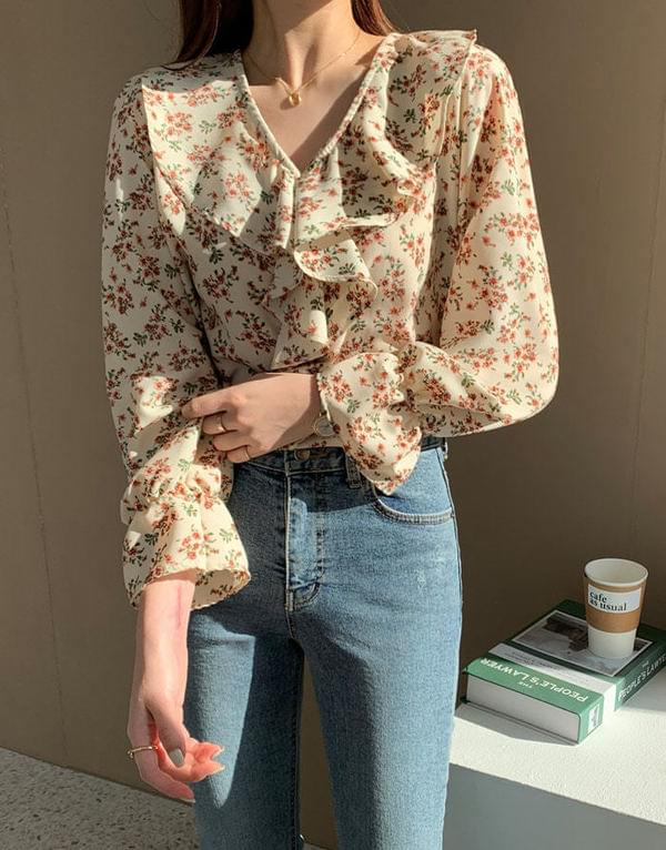 Sharming Flower Blouse