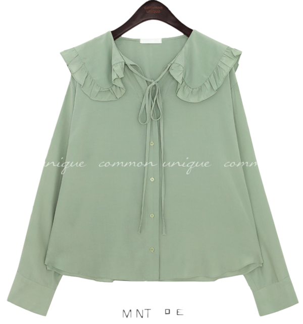 CHIFFON FRILL SAILOR COLLAR BLOUSE