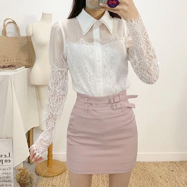 Ravet see-through lace blouse