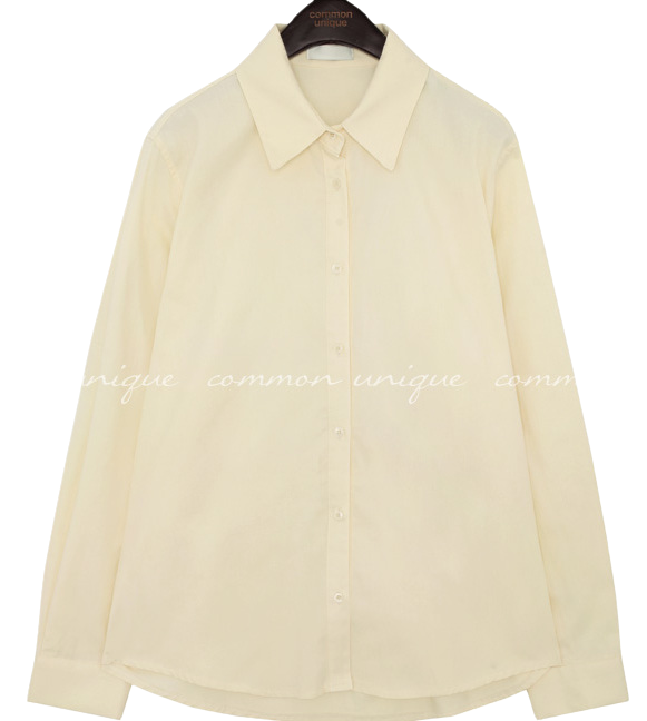 DEMURE UNBAL BASIC COTTON SHIRTS blouses
