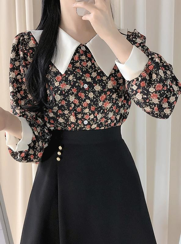 Mary & Kara Flower Blouse