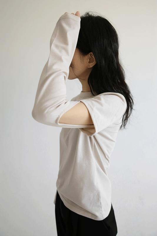 warmer simple top 長袖
