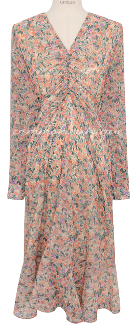 RAMIS FLOWER SHIRRING CHIFFON OPS