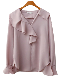 Touch frill blouse
