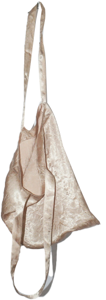 kitsch satin point shoulder bag