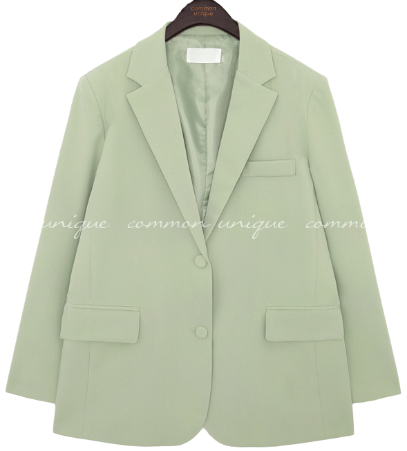 Solid Tone Single-Breasted Jacket