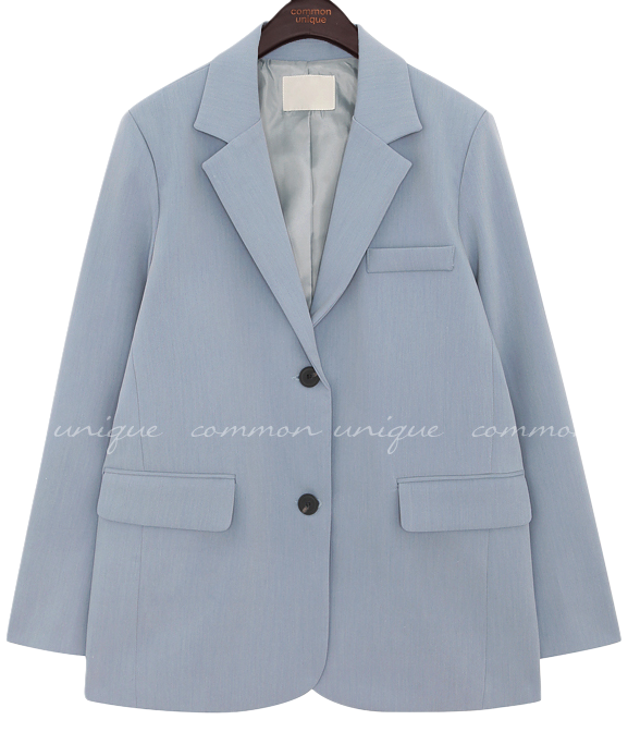 Notched Collar Single-Breasted Jacket