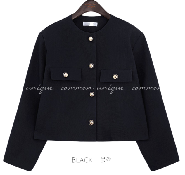 FRON NO COLLAR JACKET