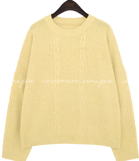 LENEV WOOL TWIST ROUND NECK KNIT