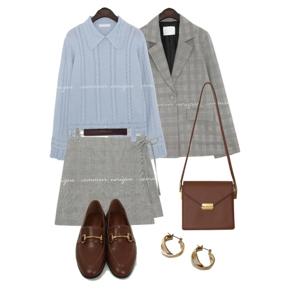 lavenir space earring,From Beginning Once string cross bag_A (size : one),From Beginning Clack slim daily loafer_H (size : 225,230,235,240,245,250)등을 매치한 코디