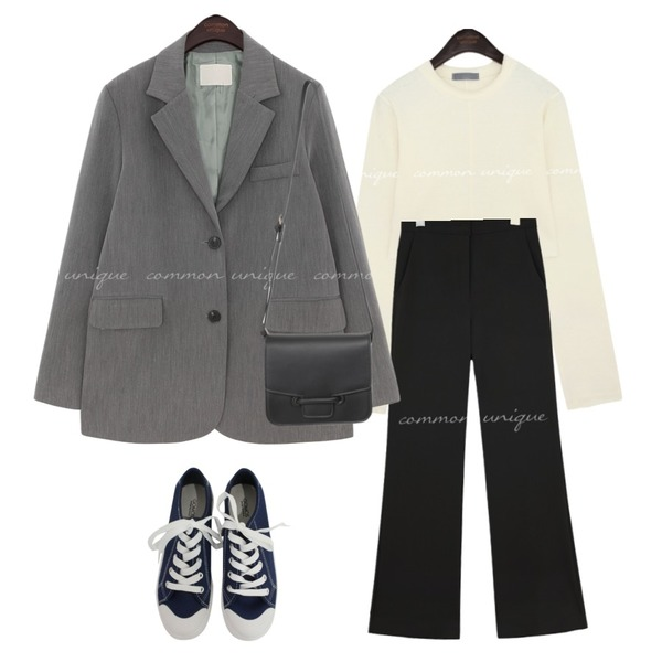 BITDA 버터링 sh (3color),common unique SELVIA SEMI BOOTS LONG SLACKS,From Beginning Door daily cross bag_Y (size : one)등을 매치한 코디