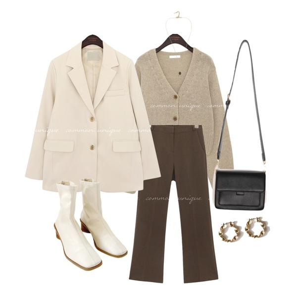 From Beginning Every bright necklace_J (size : one),biznshoe Square wood ankle ankle boots (2colors),common unique GENUS STANDARD SINGLE JACKET등을 매치한 코디