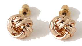 Bold coil earring_C (size : one)