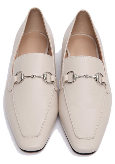 Silver buckle flat loafer_P 樂福鞋