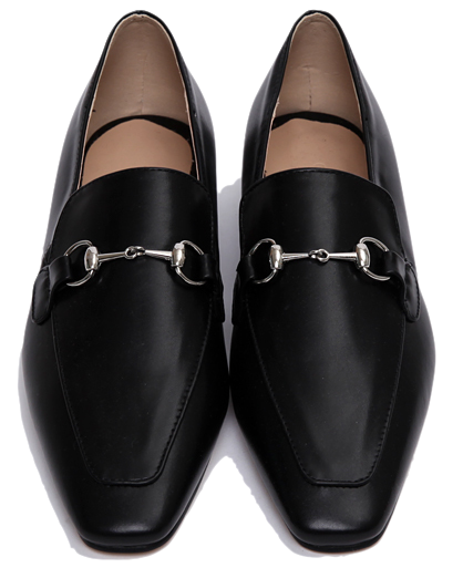 Silver buckle flat loafer_P ローファー
