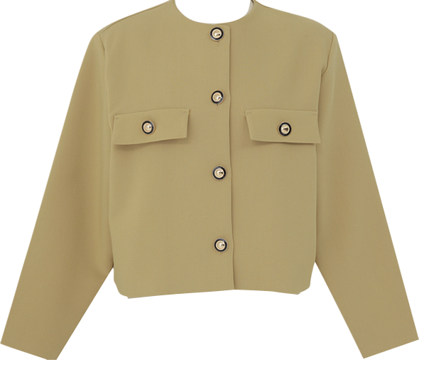 Betsy Gold Button Short Jacket