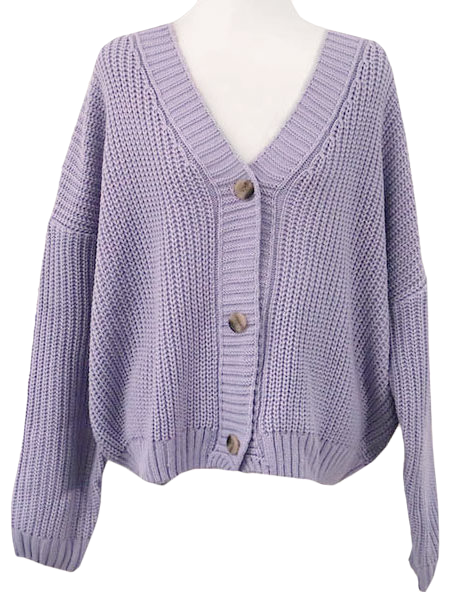 Thanks ♥ Ribbed Waffle knit cardigan-4color