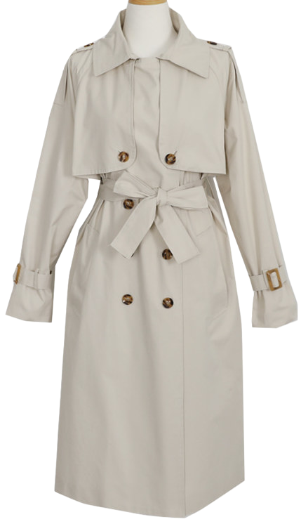 The trench coat of the good feel that I recommend to the kammer trench coat-# key girl coat tori