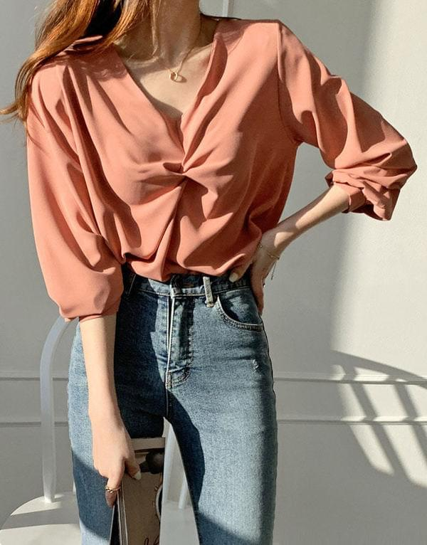Silky Soul Twist Blouse
