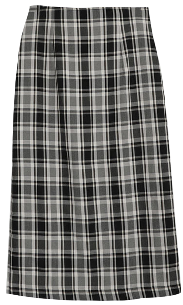 Podel check H long skirt