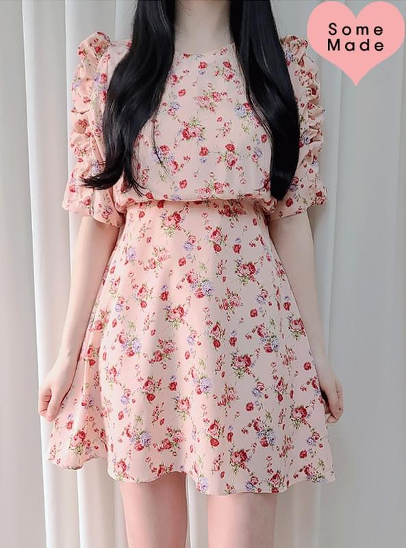 Self-made, same day delivery ♥ Antique Rose Shirring Dress