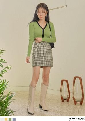 MIKO GOLGI COLORING KNIT CARDIGAN