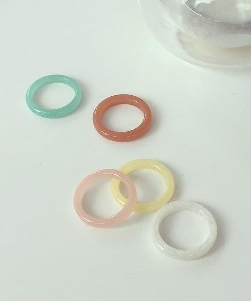 color glass ring 戒指