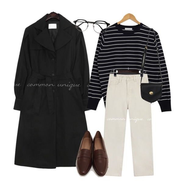 BULLANG GIRL 반듯투명안경,common unique REVLIN BALLOON TRENCH COAT,From Beginning Mood slim classic loafer_U (size : 230,235,240,245,250)등을 매치한 코디
