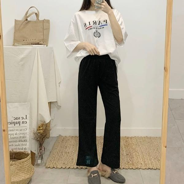 Long and long bootcut banding long pants pants