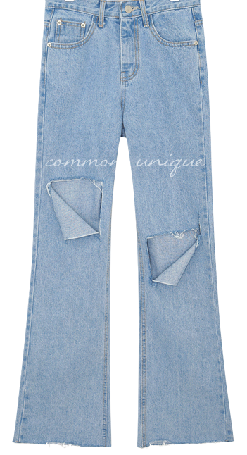 CADDY DAMAGE LONG DENIM PANTS