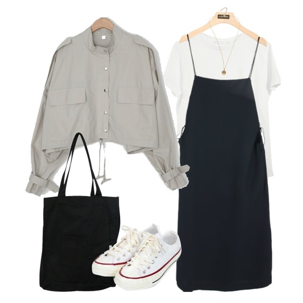 AIN taylor canvas sneakers (225-250),BITDA 머블백 (3color),From Beginning Minimal pendant necklace_H (size : one)등을 매치한 코디