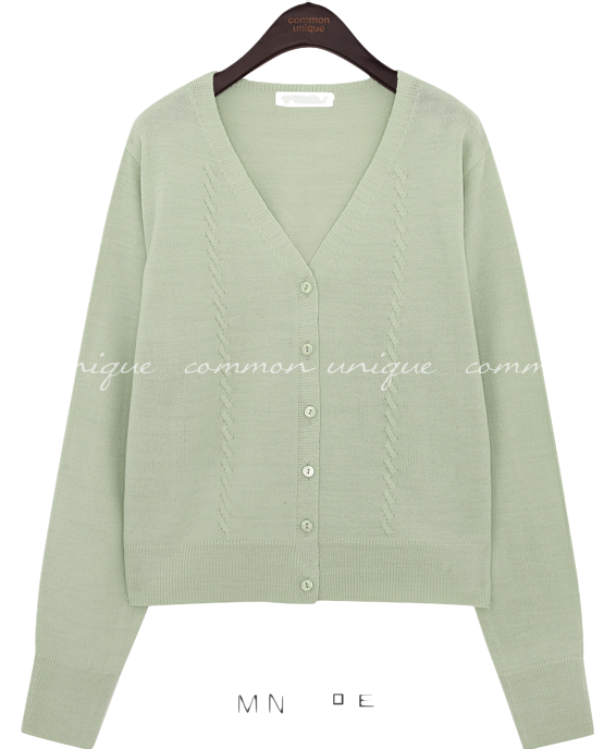 HELI V NECK KNIT CARDIGAN