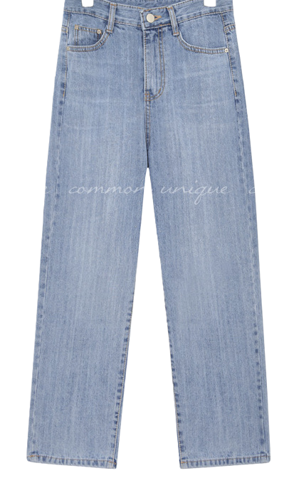 DRAIN WASHING WIDE DENIM PANTS