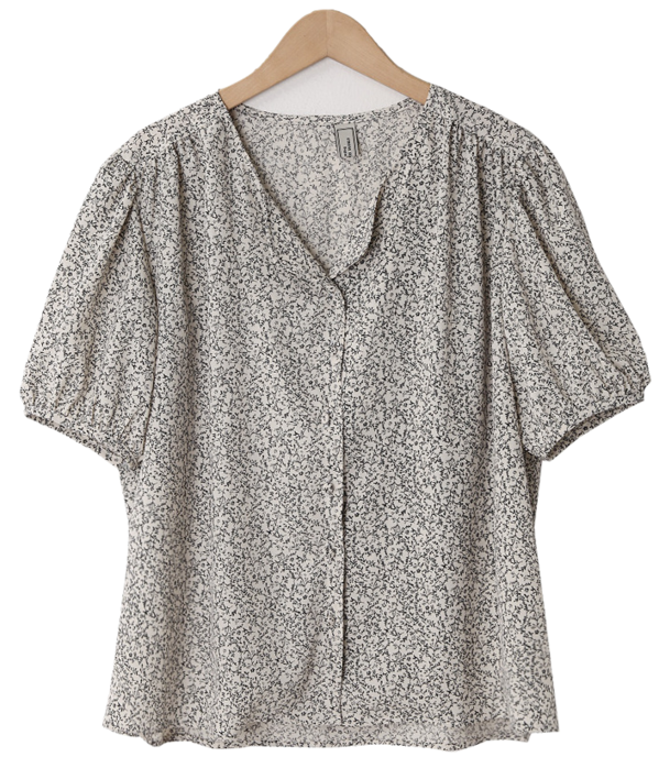 Milk Flower Shirring Blouse 襯衫
