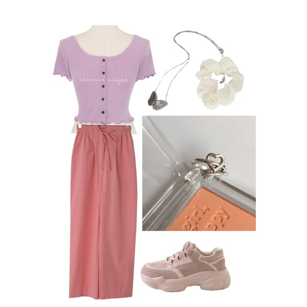 LOVELY SHOES 로드 가죽 어글리 스니커즈 5.5cm,lavenir (silver925) cupid ring,AFTERMONDAY butterfly vintage necklace등을 매치한 코디