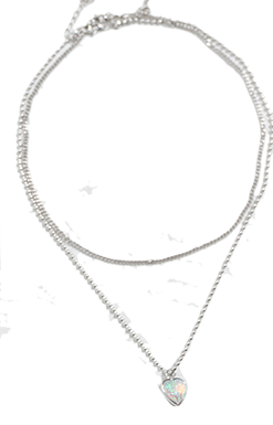 Signal twin necklace