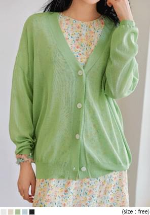 Relaxed Fit Button-Up Cardigan