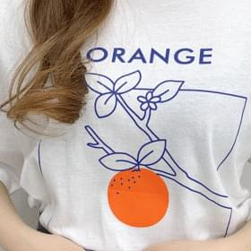 Orange Refreshing Short Sleeve Tee
