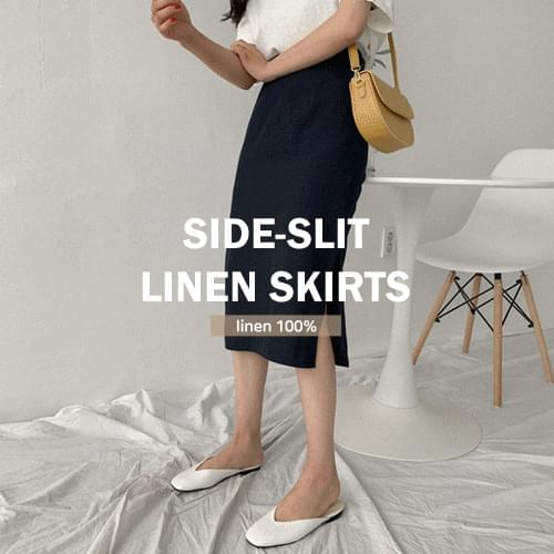 Linen Im Linen H Long Skirt skirt