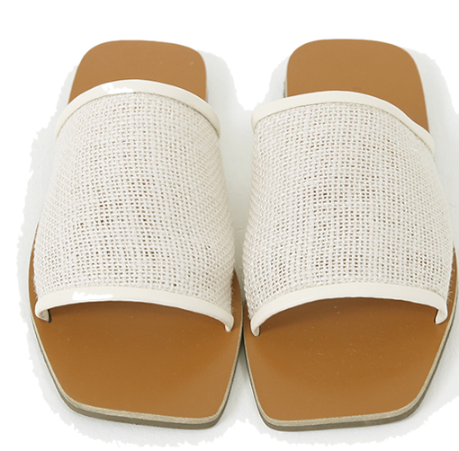 Mesh Strap Square Slipper