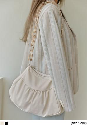 LUMINOUS SHIRRING CHAIN BAG
