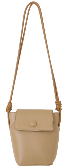 Flap nut strap shoulder bag