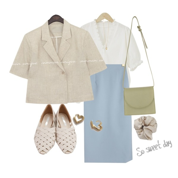 BANHARU zigzag shape strap shoes,lavenir flory onetouch earring,From Beginning Marang satin hair band_C (size : one)등을 매치한 코디