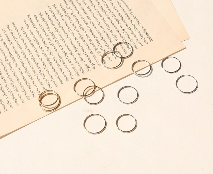 THIN LAYERED RING 6 SET