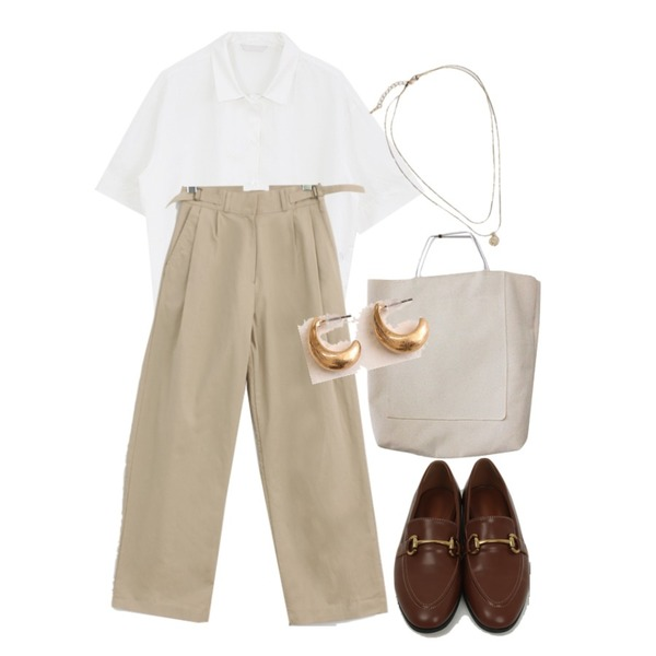 BITDA 가든 bag,From Beginning Coin layered necklace_K (size : one),From Beginning Clack slim daily loafer_H (size : 225,230,235,240,245,250)등을 매치한 코디