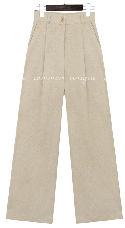 MADO LINEN 2 BUTTON PANTS