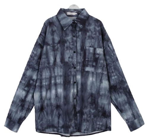 Gello tie-dye long shirt