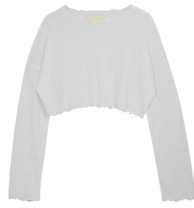 Loose-fit cropped knit